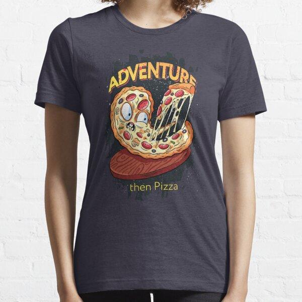 Adventure then pizza | emoji slice | fast food art Essential T-Shirt