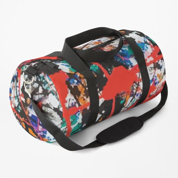 Jackson Pollock, vectorised and digitally modified, fine art decor and clothing Duffle Bag