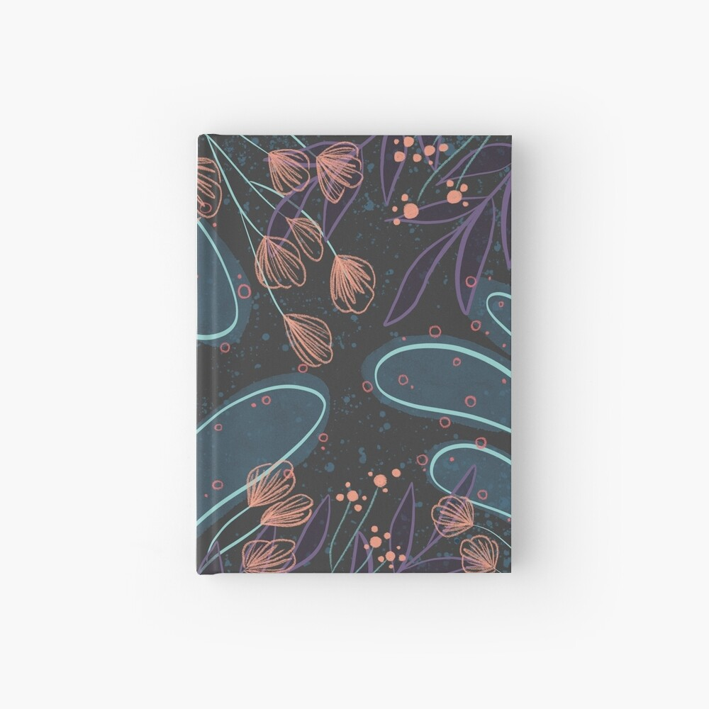Dark Floral Hardcover Journal