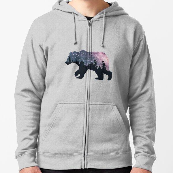 Night Sky Bear Zipped Hoodie
