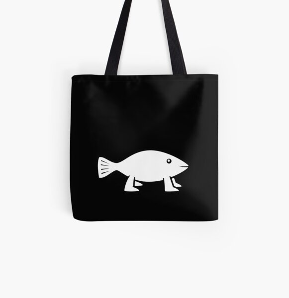 Pioneer Fish [original B&W] All Over Print Tote Bag