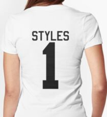 Harry Styles jersey (black text) Womens Fitted T-Shirt