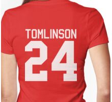 Louis Tomlinson jersey (white text) Womens Fitted T-Shirt