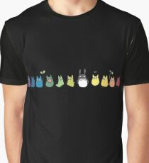 Rainbow Totoro Graphic T-Shirt