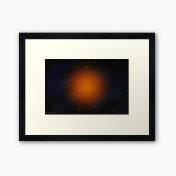 Outer space abstract Framed Art Print
