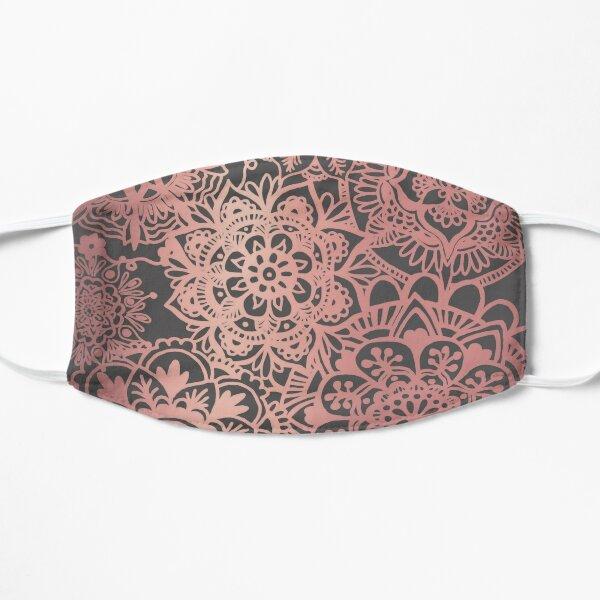 Rose Gold and Grey Mandala Pattern Flat Mask