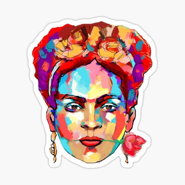 Frida Kahlo Portrait Paint Pop Art Sticker