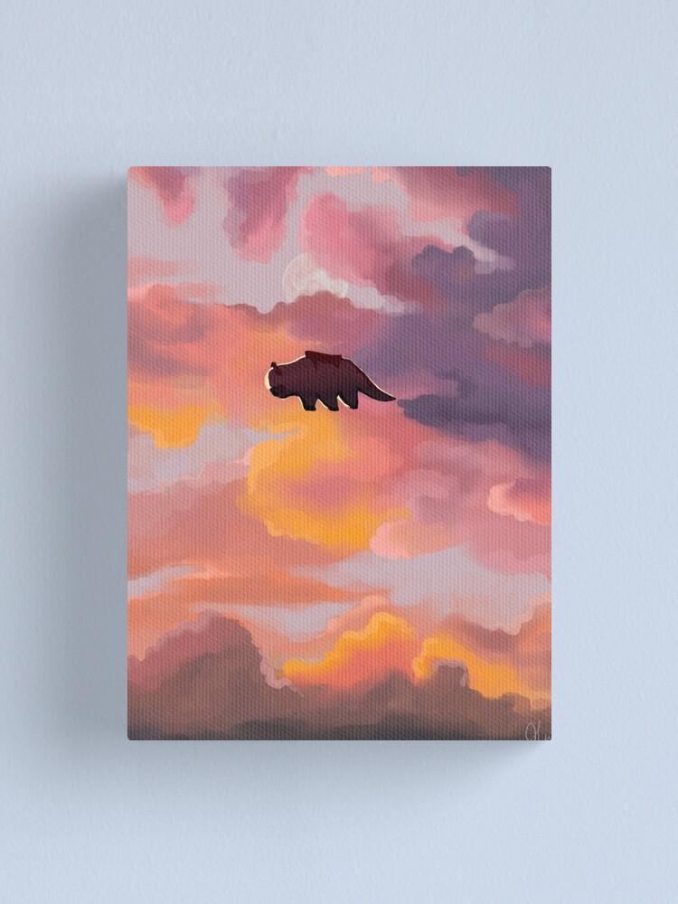 Alternate view of Appa in the Clouds Canvas Print
