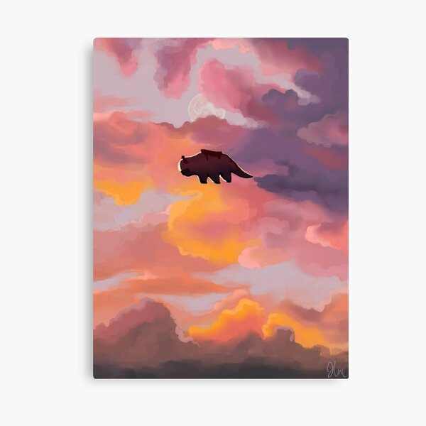 Appa in the Clouds Canvas Print