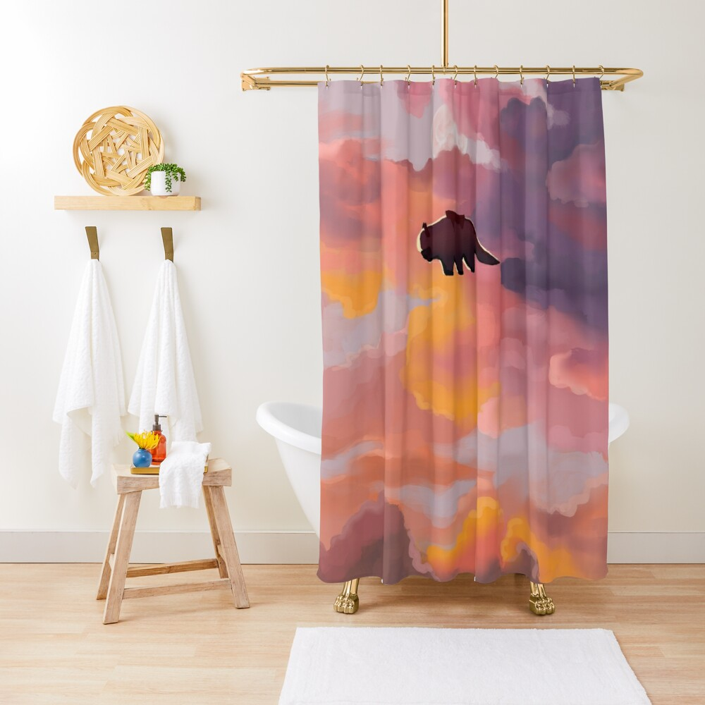 Appa in the Clouds Shower Curtain