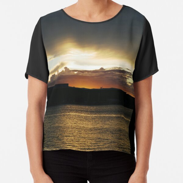 Sunset in Croatia Chiffon Top