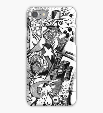 Arbitrary Milestones - Sketch Pen & Ink Illustration iPhone Case/Skin