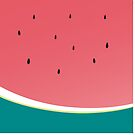 WATERMELON modern simple bold print by Kat Massard