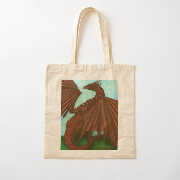 Red Dragon Cotton Tote Bag