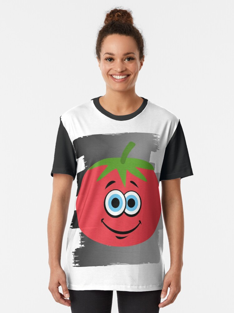 Vista alternativa de Camiseta gráfica Tomate