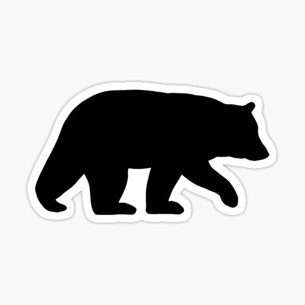 Black Bear Silhouette(s) Sticker