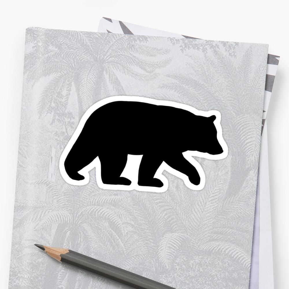 Black Bear Silhouette by Jenn Inashvili