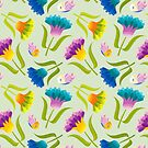 Beautiful Floral Pattern by rusanovska
