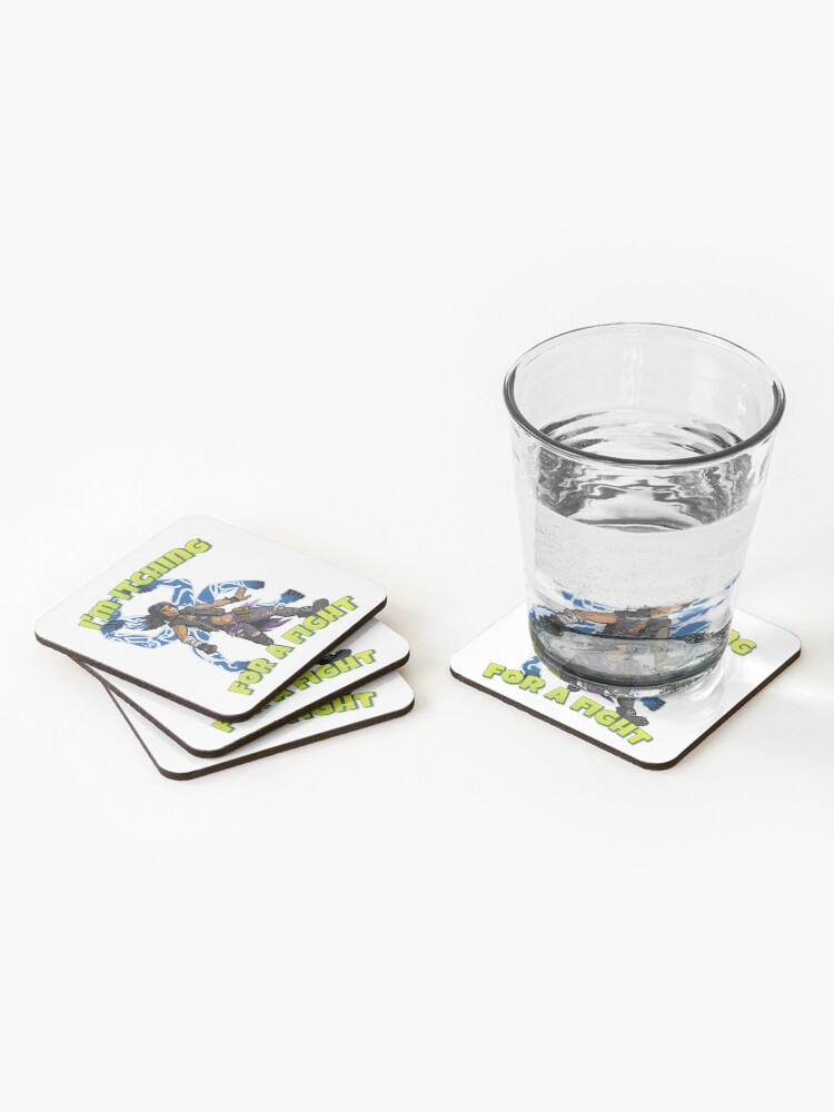 Alternate view of I'm Itching For A Fight Amara The Siren Borderlands 3 The Tiger of Partali Coasters (Set of 4)