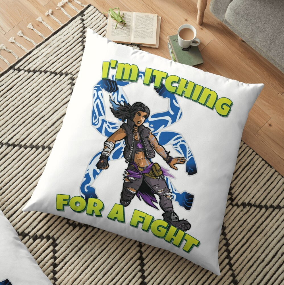 I'm Itching For A Fight Amara The Siren Borderlands 3 The Tiger of Partali Floor Pillow