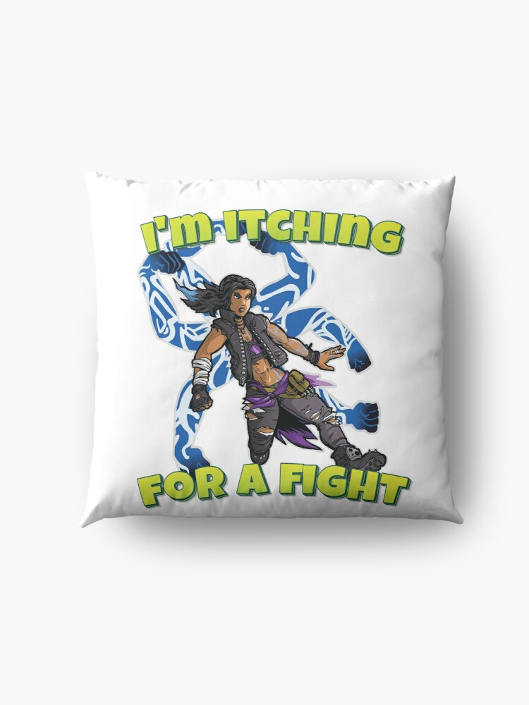 Alternate view of I'm Itching For A Fight Amara The Siren Borderlands 3 The Tiger of Partali Floor Pillow
