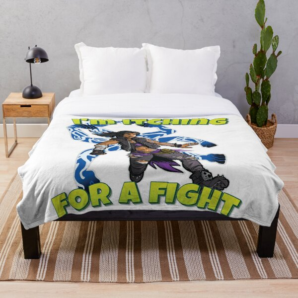 I'm Itching For A Fight Amara The Siren Borderlands 3 The Tiger of Partali Throw Blanket
