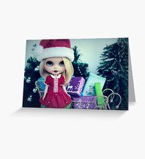 Preparing the sleigh Greeting Card