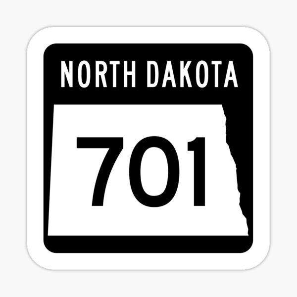 North Dakota State Route 701 - (Area Code 701) - Modern Sticker