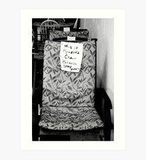 Robert's Chair Art Print