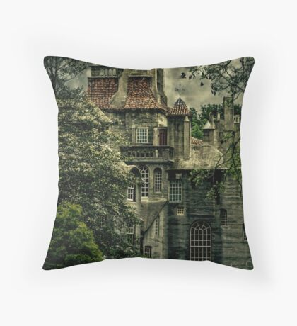 Fonthill with Storm Clouds Throw Pillow