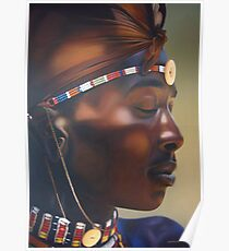 Massai Worrior Poster