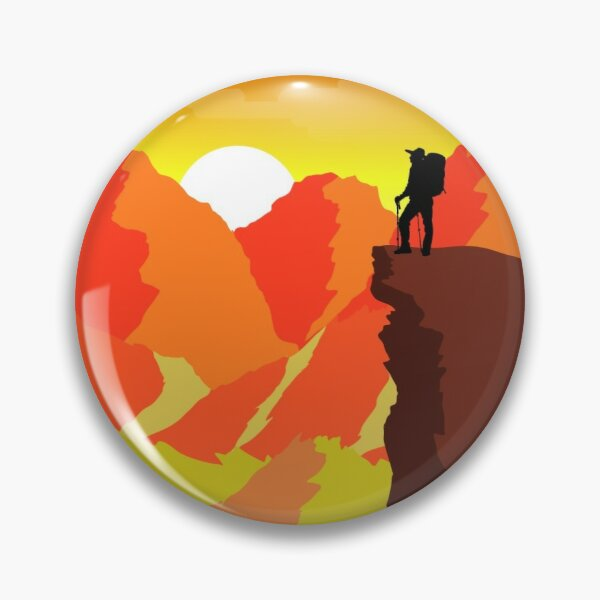 Sunset Hiking Trip Pin