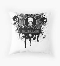 Play, Create, Share Throw Pillow