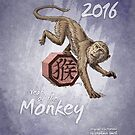 2016 Year of the Monkey - Chinese Zodiac by Stephanie Smith