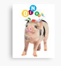 Lienzo SPOTTY MICRO PIG GIRL