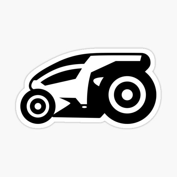Armagetron Advanced (aka Retrocycles) Cycle Design in B&W Sticker