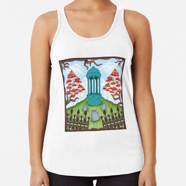 Colorful Graveyard Racerback Tank Top