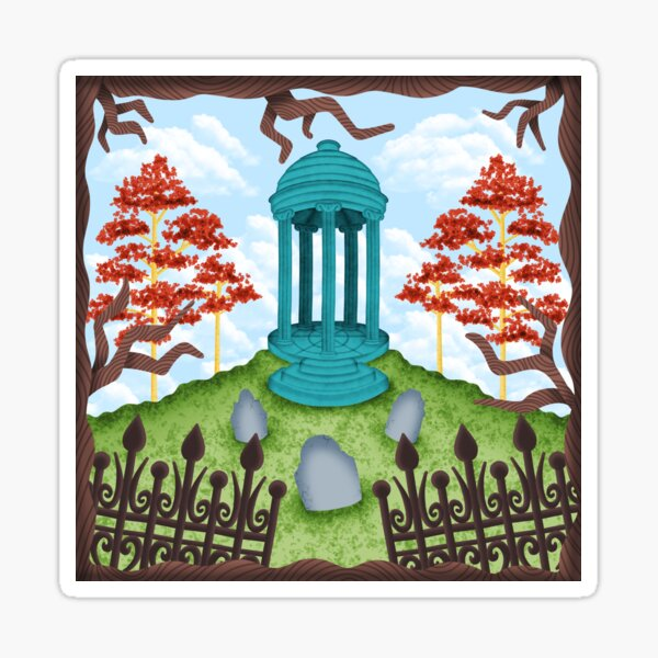 Colorful Graveyard Sticker
