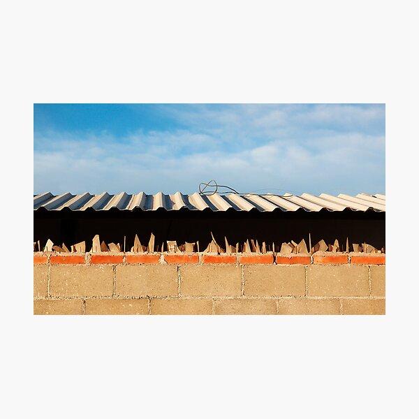 Jagged Wall Photographic Print