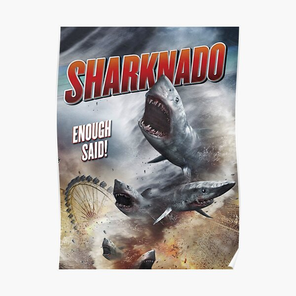 SHARKNADO MOVIE POSTER - SHARKS Poster