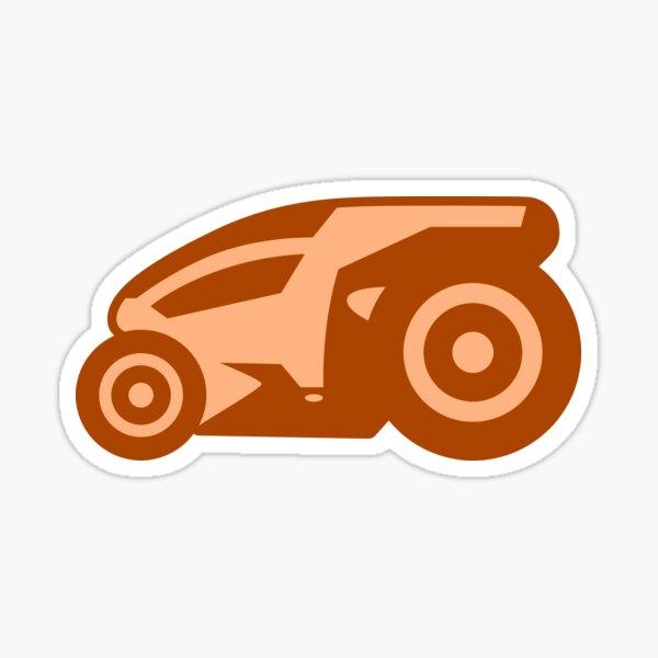 Armagetron Advanced (aka Retrocycles) Cycle Design in Orange Cream Sticker