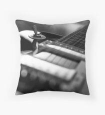 Guitar - Black White Throw Pillow