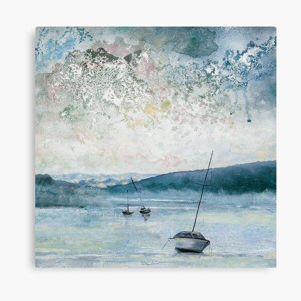 Twilight on The Gannel, Cornwall Art Canvas Print