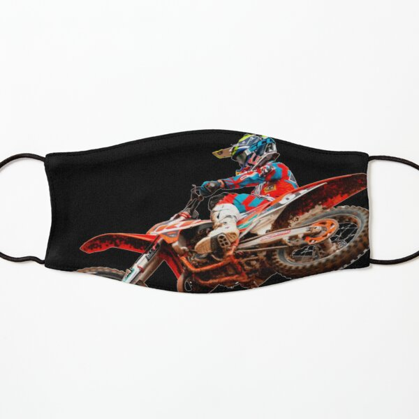 Dirt Bike Jumping Ktm Kids Mask