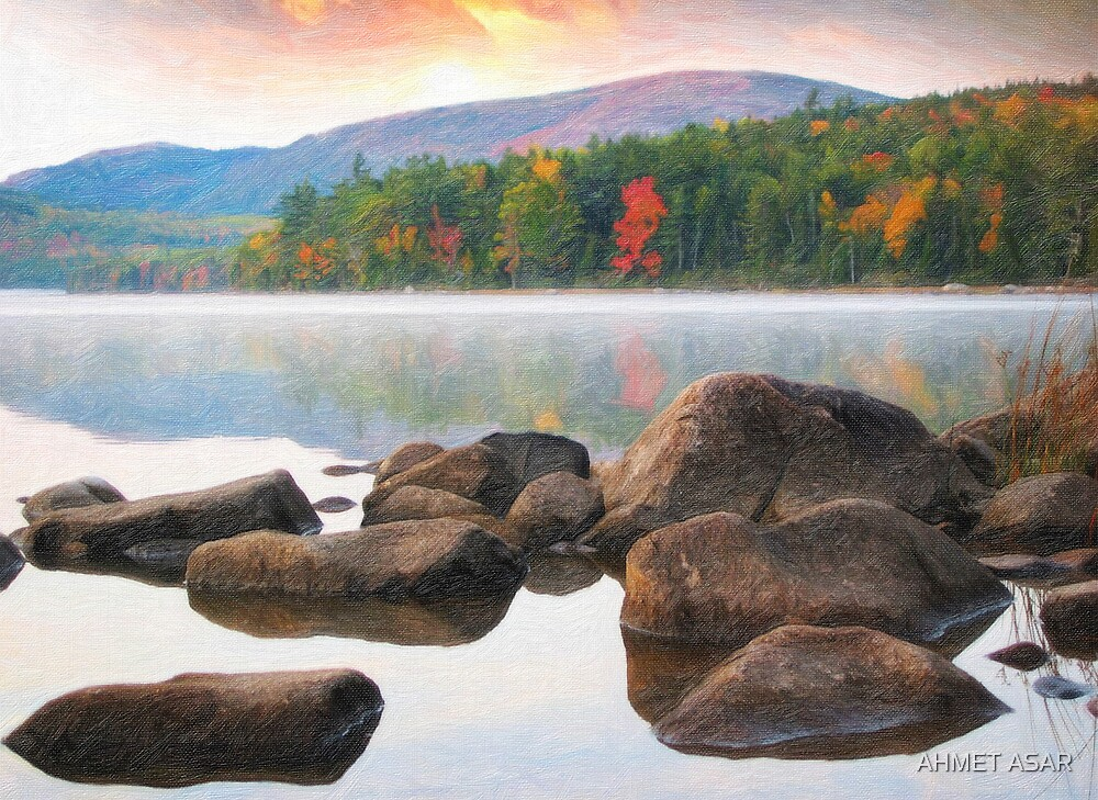 Eagle lake in acadia national park by MotionAge Media