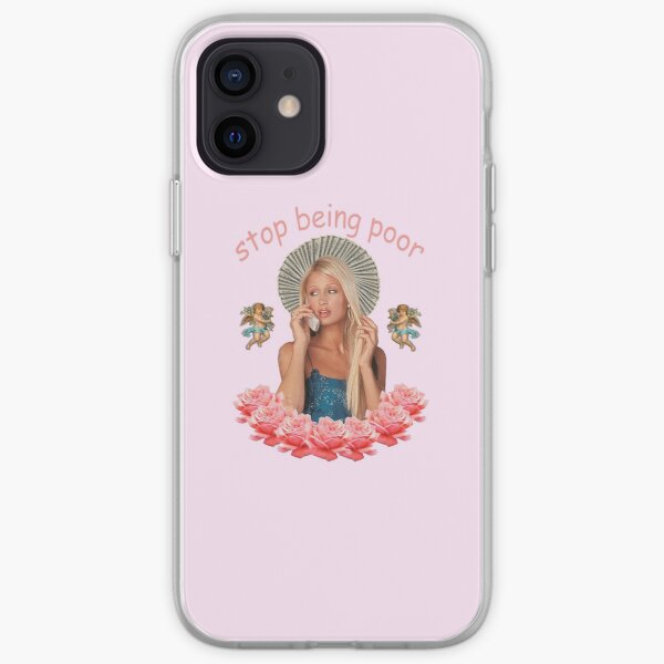 Paris Hilton 'Stop Being Poor' iPhone Soft Case