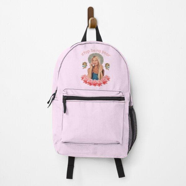 Paris Hilton 'Stop Being Poor' Backpack