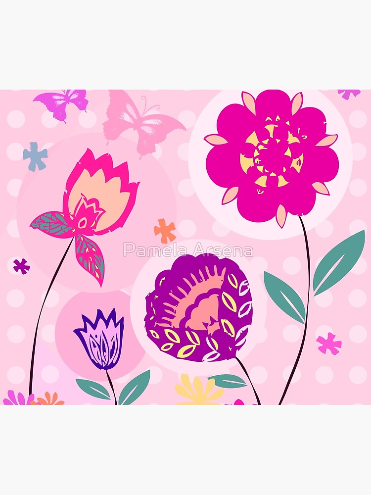 Hipster Flowers Pastel Floral Print by xpressio