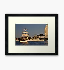 Fleet Review Ships - Old And New, Australia 2013 Framed Print