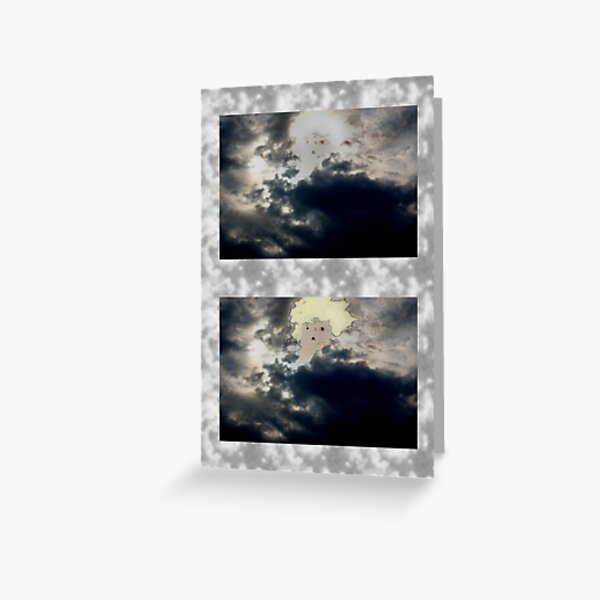 Boy in Clouds Greeting Card